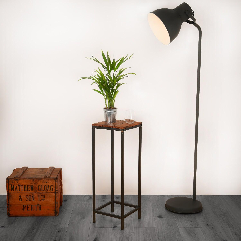 Reclamado mesa alto Industrial madera y acero mesa alta mesa
