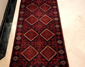 ARTICLE # 5068 Tribal Hand Knotted Meshwani Kilim Runner 255 x 60 cm