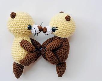 Otter, Otter Stuffed Animal, Crochet Otter, Amigurumi Otter, Ziggy & Tilly the Otters