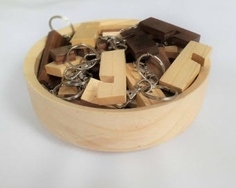 Wooden Smartphone Stand keyring
