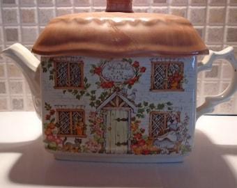 Vintage Sadler Ye Old Ivy Cottage Teapot Made In England