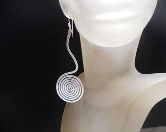 Wire wrapped earrings Wire earrings Spiral earrings Swirls earrings Dangle earrings Statement earrings Fantasy earrings Modern earrings