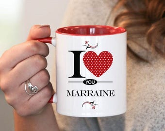I Love You Marraine , Marraine Gift, Marraine Birthday, Marraine Mug, Marraine Gift Idea, Baby Shower, Mothers Day