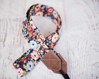 Floral camera strap, DSLR camera strap, camera strap, photography accessories, gift for her, photographer gift