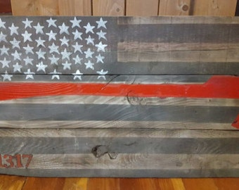 thin red line axe flag