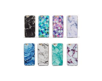Marble Pattern Design Thin Gel Silicone Cover Case for iPhone 7, 7 Plus, 6, 6S, 6 Plus, 6S Plus, SE, 5, 5S