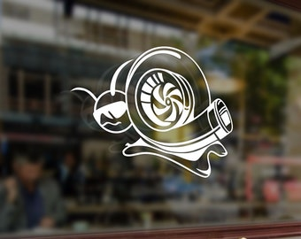 Turbo Snail JDM Style Art Vinyl Stickers Funny Decals Bumper Car Auto Computer Laptop Wall Window Glass Skateboard Snowboard Room Tuning