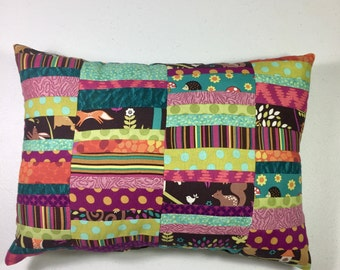 Decorative Pillow, Woodland Fabrics, Michael Miller Fabrics, Scrappy Stripe pillow 161