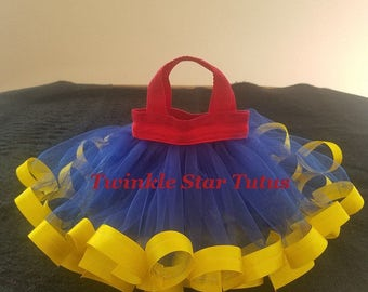 10 Party Favor Tutu Bags-Disney Themed-Snow White-Disney Princess Theme Party-Birthday Party Bags