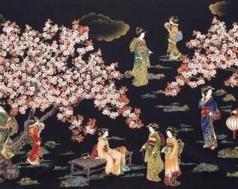 Oriental Traditions Robert Kaufman 24in Fabric Panel