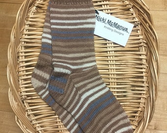 Ladies Stripped Hand Knit Socks