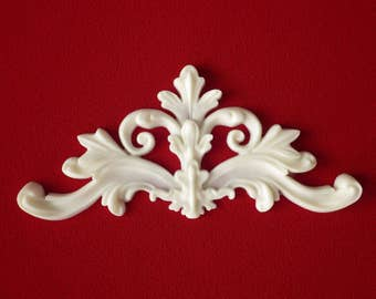 Decorative Flourish Centre Piece Resin Applique - Furniture/Door Moulding - Onlay