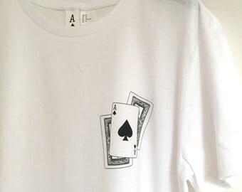 Silkscreen hand card - 100% cotton T-shirt