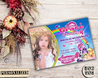 My Little Pony Invitation / My Little Pony Birthday Invitation / My Little Pony Party Invitation / My Little Pony Printable Invitation