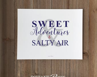 Sweet Adventures & Salty Air - Instant download
