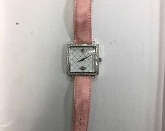 Victoria Weick pink diamnond accent pink watch