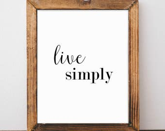 Simply live etsy for Live simply wall art