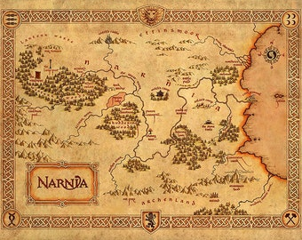 The Chronicles Of Narnia, Narnia Map
