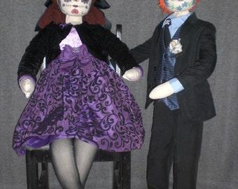 OOAK Horror Day of the Dead Mannequin window display Props