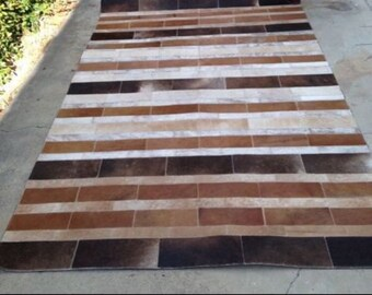 Buenos Aires Patchwork Cowhide 5x7 Rug