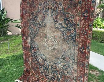 """4'5"""" x 6'4"""" Tabriz - 1880s"""