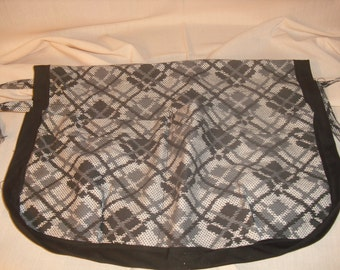 Gray and Black Plaid Style Walker Caddy