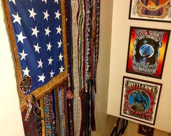 Boho Americana Wall Flag
