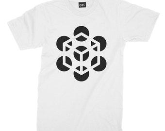 Illusion Cube Unisex Tee, t-shirt, t-shirt, unisex shirt cube illusion, graphic tees, men's fashion, men's t-shirt