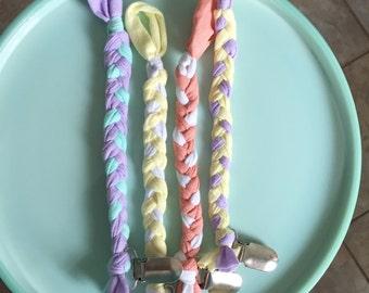 Multicolored Braided Clip