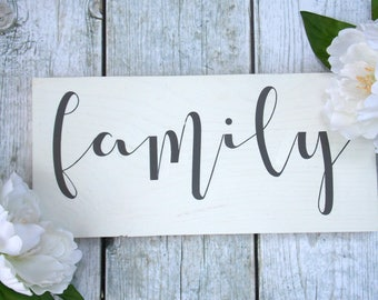 Family | 6x12 | rustic decor | wood sign | farmhouse | wall decor
