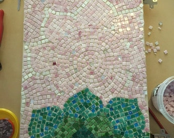 Mosaic Lotus wall art