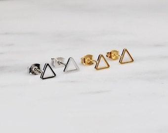 Triangle Earring Set / Triangle Stud Set / Geometric Triangle Earrings