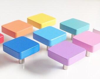 Square - furniture knob furniture handles, furniture for children's room
