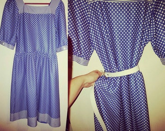 White and Blue Instagram Ready; handmade in New Zealand, Size  14