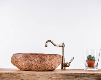 """Stone sink - One of a kind stone sink """"Ginger"""" - Vessel sink"""