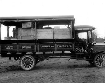 "1910 Packard Three Ton Truck Vintage Photograph 11"" x 17"""