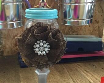 Pint Size Mason Jar Wine Glass