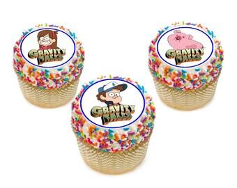 Gravity Falls edible cupcake toppers or cake topper, Cake topper personalized free- Gravity Falls cupcake toppers, Gravity Falls party