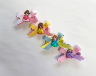 Princess hair clips (set of 4)