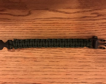 Paracord bracelet with whistle!