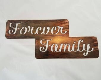 Forever Family metal sign, Mother's day gift