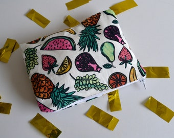 zipper pouch / S / fruit salad
