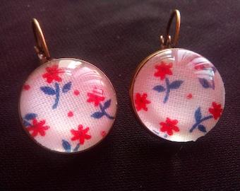 Stud Earrings floral #D 5