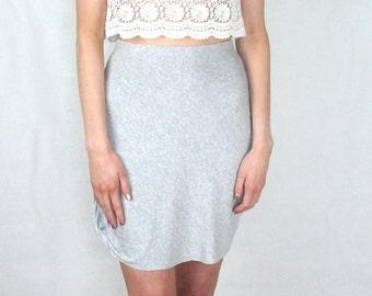 Grey Twist Hem Skirt