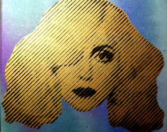 Lady Gaga Halftone Painting (GOLD)