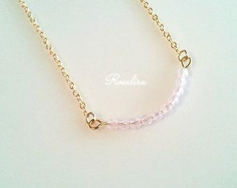 16 KGF pale pink necklace Czech spring pink pastel colors