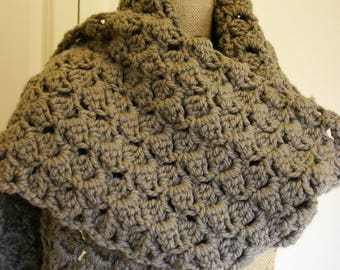 Amanda Chunky Textured Crochet Super Scarf