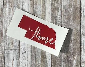 Nebraska Home Decal