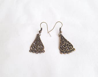 Bronze Dangle Earrings