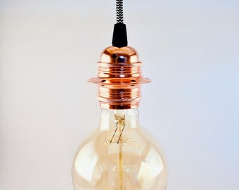 DIY set copper lamp and textile cable. Pendant | Pendant lamp, self made